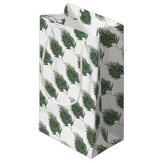 Palm leaves t-shirt small gift bag