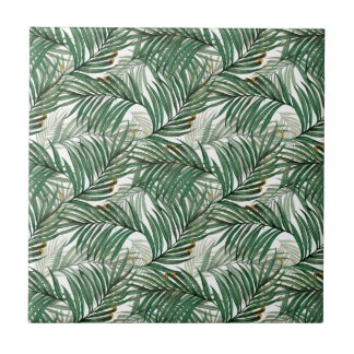 Palm leaves tile