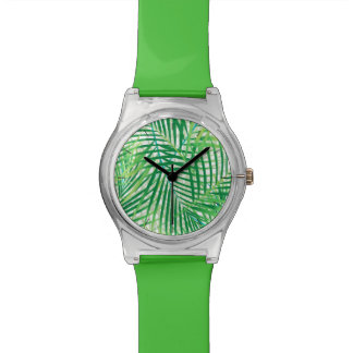 Palm leaves wristwatches