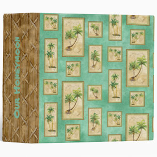 "Palm Paradise ""Our Honeymoon"" Wedding Photo Binder"