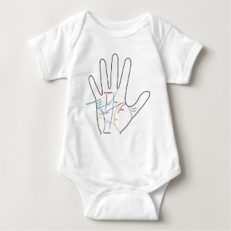 palm reading reading of the hand baby bodysuit