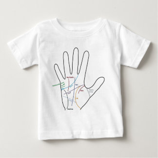 palm reading reading of the hand baby T-Shirt