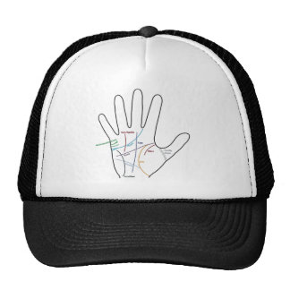 palm reading reading of the hand trucker hat