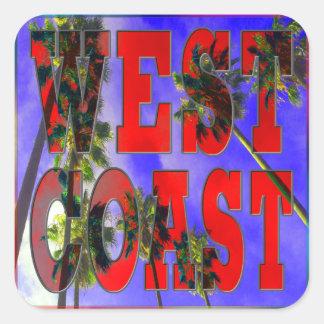 Palm Sky West Coast Sticker