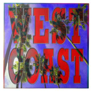 """Palm Sky: West Coast"" Tile"