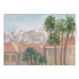 """Palm Springs/CA"" Watercolor Sketch Greeting Card"