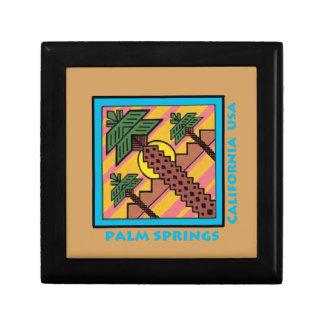 PALM SPRINGS California USA original artwork Gift Box