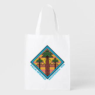 PALM SPRINGS CALIFORNIA USA original artwork Reusable Grocery Bag