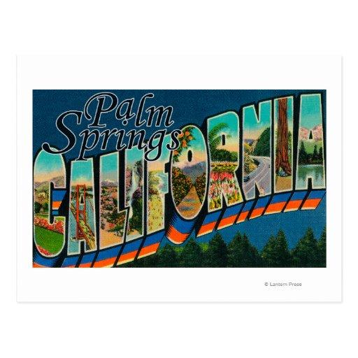 Palm Springs, la Californie - grandes scènes de Carte Postale