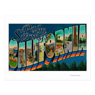 Palm Springs la Californie - grandes scènes de le Carte Postale