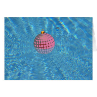 Palm Springs Xmas Ornament in Swimming Pool Card