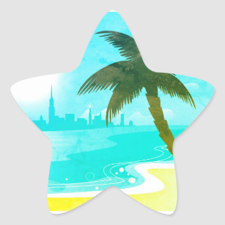 Palm sticker with Illustration. PRODUCT DESIGN