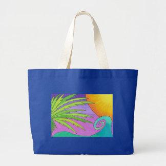 Palm Sunset Jumbo Tote Bag