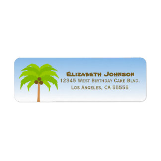 Palm Tree Address Label