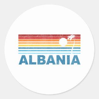 Palm Tree Albania Round Sticker