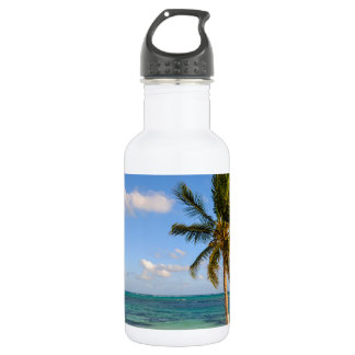 Palm Tree and Beach 532 Ml Water Bottle