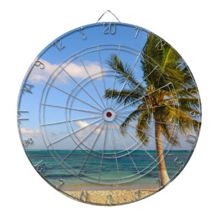 Palm Tree and Beach Dartboard