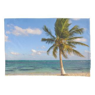 Palm Tree and Beach Pillowcase