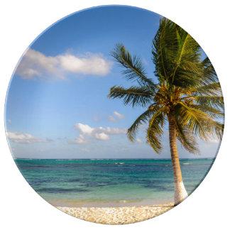 Palm Tree and Beach Plate