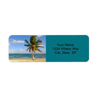 Palm Tree and Beach Return Address Label