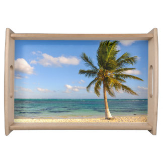 Palm Tree and Beach Serving Tray