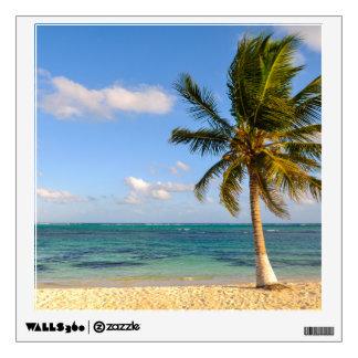 Palm Tree and Beach Wall Sticker