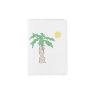 Palm Tree and Sun Cartoon Passport Holder