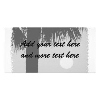 Palm Tree and Sun Customized Photo Card