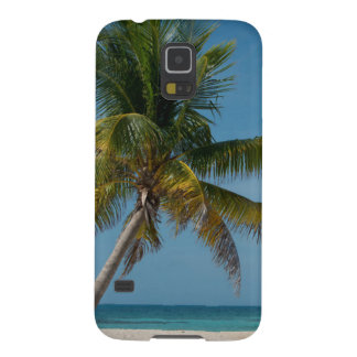 Palm tree and white sand beach  2 galaxy s5 cover
