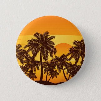 Palm Tree at Sunset 2 Inch Round Button
