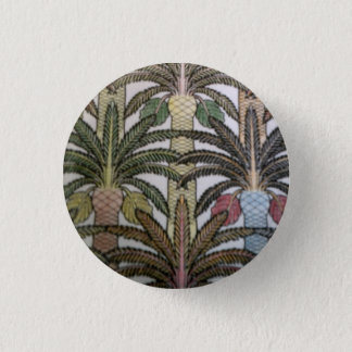 Palm tree badge. 1 inch round button