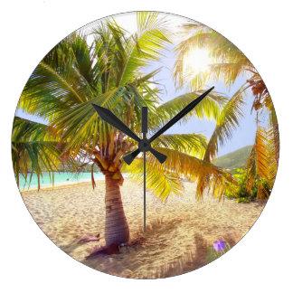 Palm Tree Beach Clock