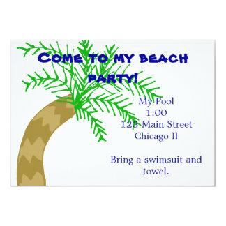 Palm Tree Beach Party Invitation