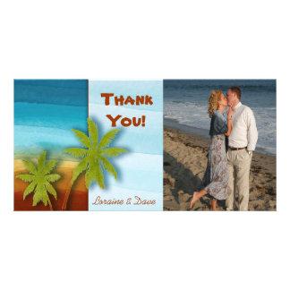 Palm Tree / Beach theme wedding / event Customized Photo Card