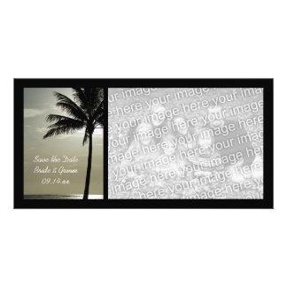 Palm Tree Beach Wedding Save the Date Photo Card