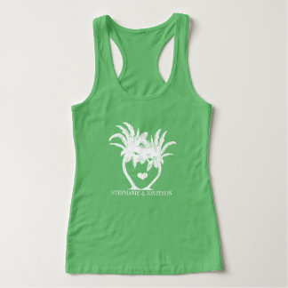 Palm Tree Beach Wedding Tank Top