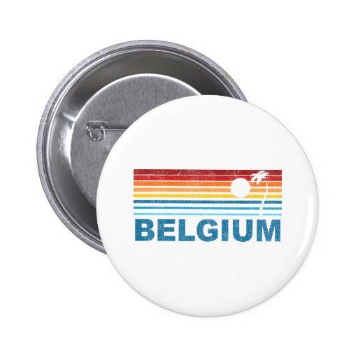 Palm Tree Belgium Button