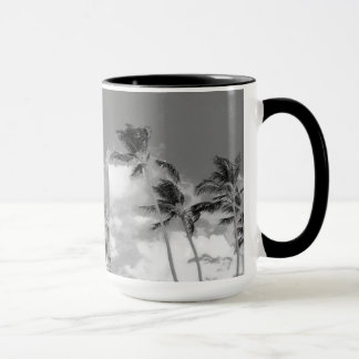 Palm Tree Black and White Photograph Mug
