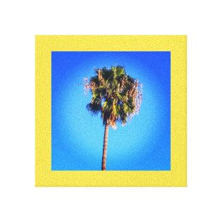 Palm Tree Blue Sky Canvas Print