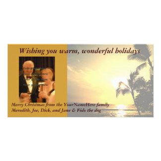 Palm Tree Christmas Photo Photo Greeting Card