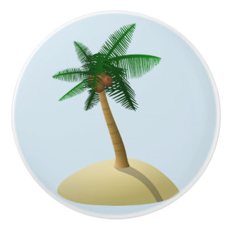 Palm Tree Coconut Tropical Beach Drawer Pull Knob