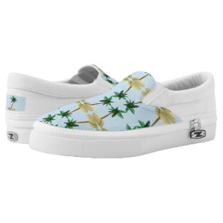 Palm Tree Coconut Tropical Beach Slip On Sneaker