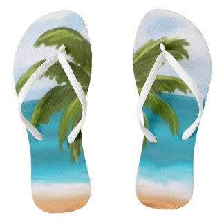 Palm Tree Custom Flip-Flops- make changes yourself Flip Flops