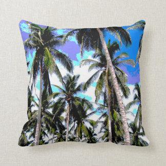 Palm Tree Design Throw Pillow
