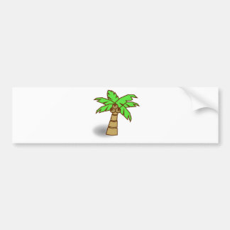 Palm Tree Drawing Bumper Sticker
