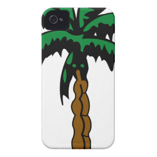 Palm Tree Drawing iPhone 4 Case