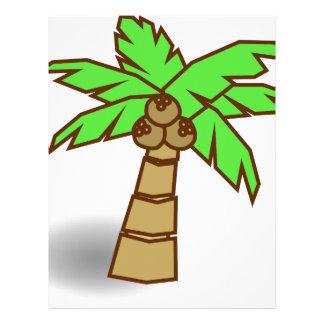 Palm Tree Drawing Letterhead