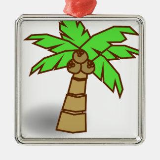 Palm Tree Drawing Metal Ornament