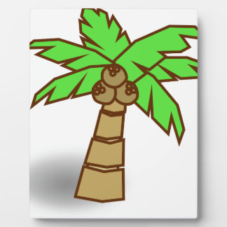Palm Tree Drawing Plaque