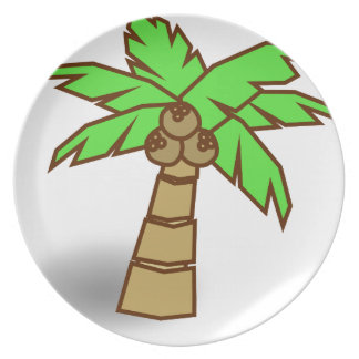 Palm Tree Drawing Plate